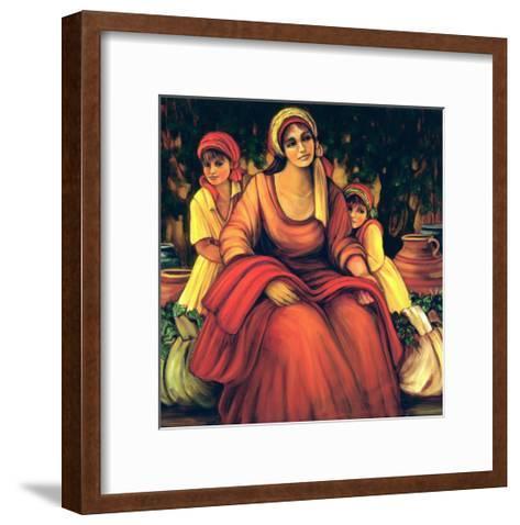 The Blessings Of The Vine-Maria Sharylen-Framed Art Print