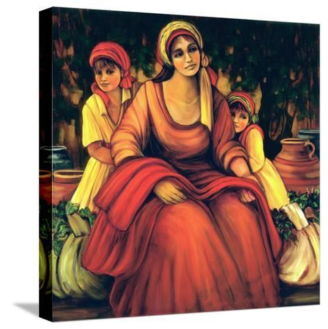 The Blessings Of The Vine-Maria Sharylen-Stretched Canvas Print