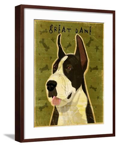 Black Great Dane-John W Golden-Framed Art Print