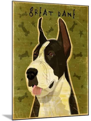 Black Great Dane-John W Golden-Mounted Giclee Print