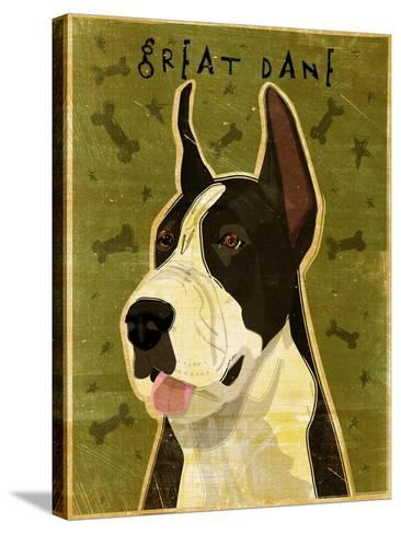 Black Great Dane-John W Golden-Stretched Canvas Print