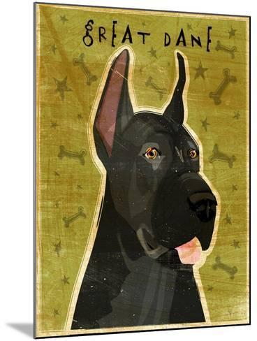 Great Dane Black-John W Golden-Mounted Giclee Print