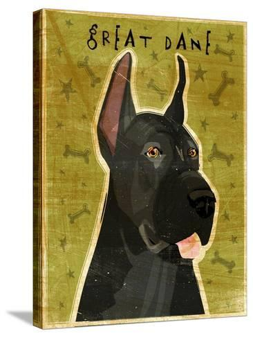 Great Dane Black-John W Golden-Stretched Canvas Print