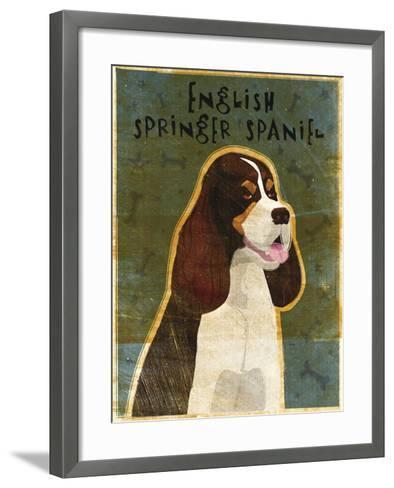 English Springer Spaniel (tri-color)-John W Golden-Framed Art Print