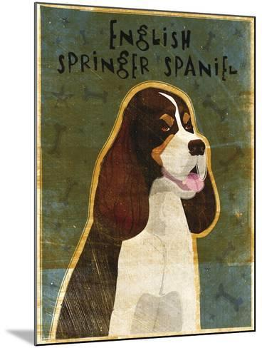 English Springer Spaniel (tri-color)-John W Golden-Mounted Giclee Print