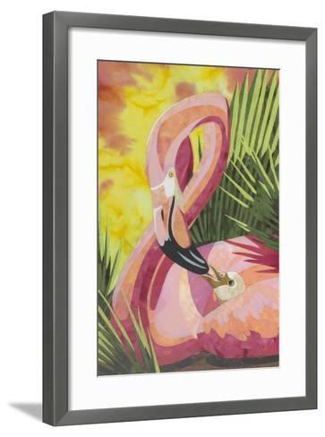 Flamingo Mom-Kestrel Michaud-Framed Art Print