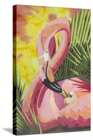 Flamingo Mom-Kestrel Michaud-Stretched Canvas Print