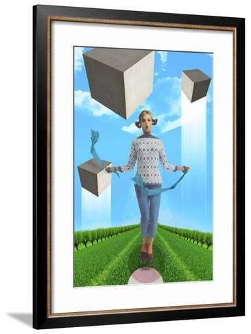 Ribbons-Elo Marc-Framed Art Print