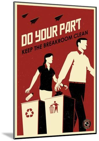 Clean Breakroom-Steve Thomas-Mounted Giclee Print
