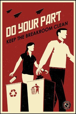 Clean Breakroom-Steve Thomas-Stretched Canvas Print