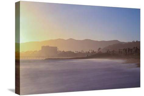 Down the Beach-Chris Moyer-Stretched Canvas Print