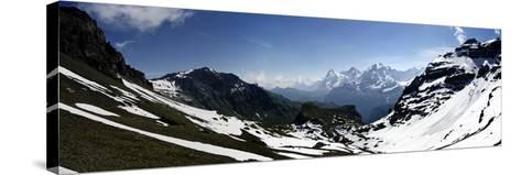 Panorama Switzerland-Istv?n Nagy-Stretched Canvas Print