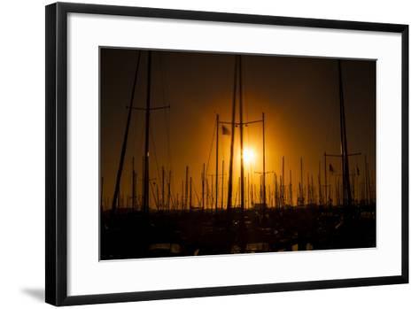 Mast Sunset-Chris Moyer-Framed Art Print