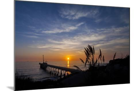 Pierfect Sunset Silhouette-Chris Moyer-Mounted Photographic Print
