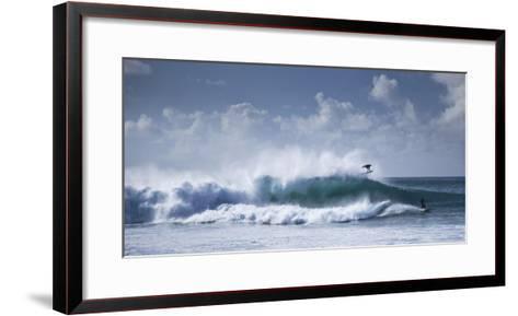 Pipeline Surfer-Cameron Brooks-Framed Art Print
