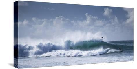 Pipeline Surfer-Cameron Brooks-Stretched Canvas Print