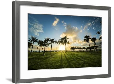 Queens Sunset-Cameron Brooks-Framed Art Print