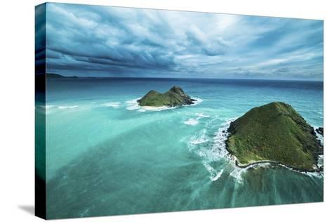 Stormy Lanikai-Cameron Brooks-Stretched Canvas Print