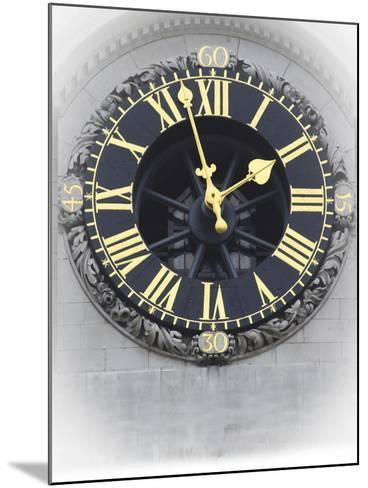 London Clock 3-Chris Bliss-Mounted Photographic Print