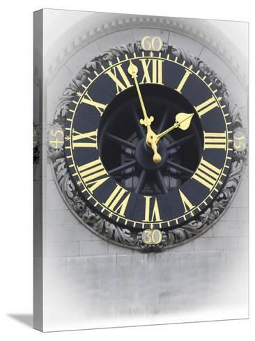 London Clock 3-Chris Bliss-Stretched Canvas Print