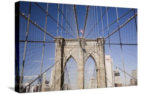 Brooklyn Bridge #2, New York City, New York 08-Monte Nagler-Stretched Canvas Print