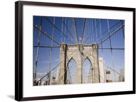 Brooklyn Bridge #2, New York City, New York 08-Monte Nagler-Framed Art Print