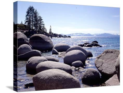 Sand Harbor Beach, Lake Tahoe, Nevada '88-Monte Nagler-Stretched Canvas Print