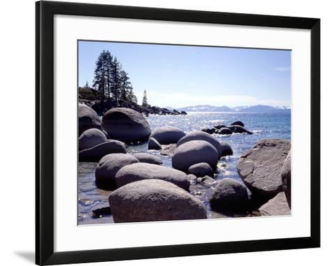 Sand Harbor Beach, Lake Tahoe, Nevada '88-Monte Nagler-Framed Art Print