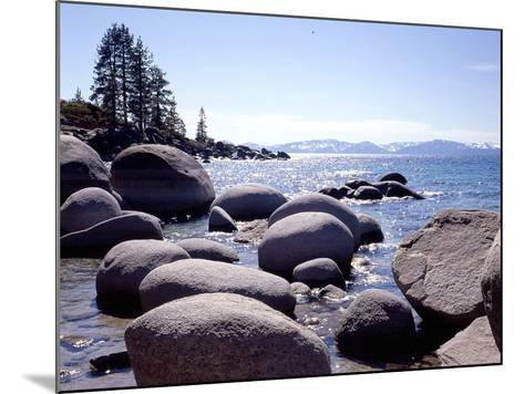 Sand Harbor Beach, Lake Tahoe, Nevada '88-Monte Nagler-Mounted Photographic Print