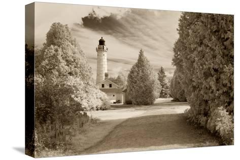 Cana Island Lighthouse, Door County, Wisconsin '12-Monte Nagler-Stretched Canvas Print