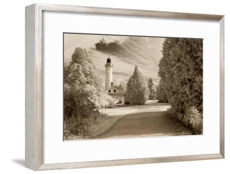 Cana Island Lighthouse, Door County, Wisconsin '12-Monte Nagler-Framed Art Print