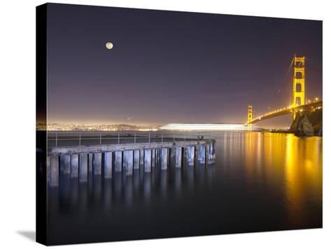 Golden Gate Pier and Stars-Moises Levy-Stretched Canvas Print