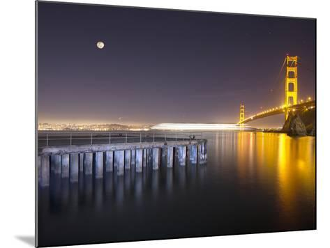Golden Gate Pier and Stars-Moises Levy-Mounted Photographic Print