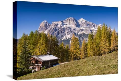 Alpine Chalet-Michael Blanchette Photography-Stretched Canvas Print