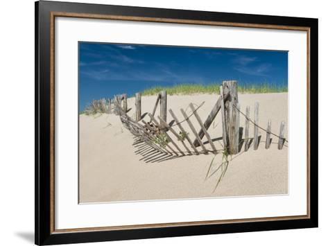 Worn Beach Fence-Michael Blanchette Photography-Framed Art Print