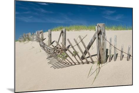 Worn Beach Fence-Michael Blanchette Photography-Mounted Photographic Print