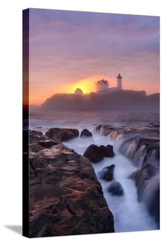 Lighthouse On Fire-Michael Blanchette Photography-Stretched Canvas Print