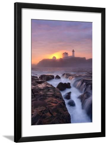 Lighthouse On Fire-Michael Blanchette Photography-Framed Art Print