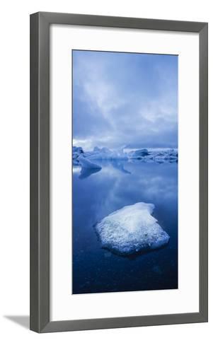 Icebergs 1 Vertical-Moises Levy-Framed Art Print