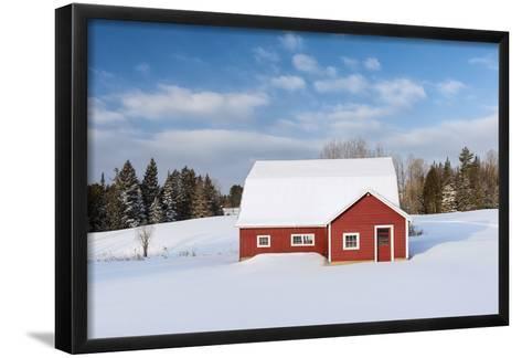 Red Barn In Snow-Michael Blanchette Photography-Framed Art Print