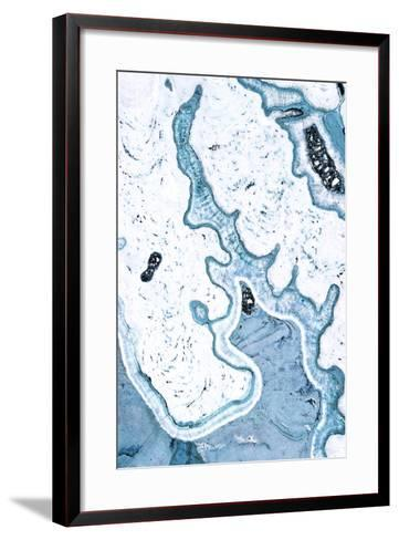 Blue Lace Agate--Framed Art Print