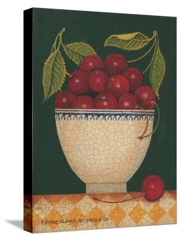 Cup O' Cherries-Diane Pedersen-Stretched Canvas Print