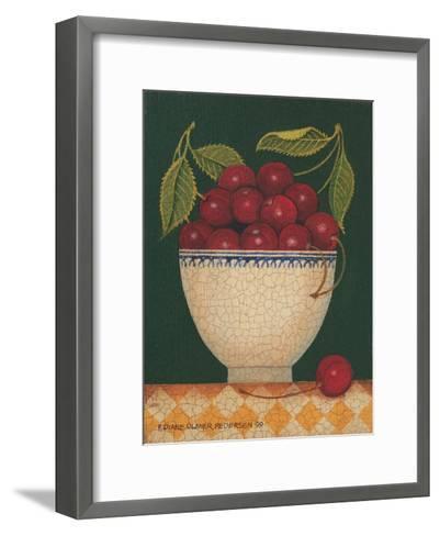 Cup O' Cherries-Diane Pedersen-Framed Art Print