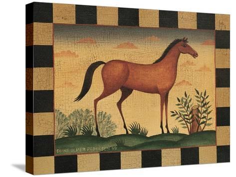 Farm Horse-Diane Pedersen-Stretched Canvas Print