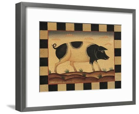 Farm Pig-Diane Pedersen-Framed Art Print