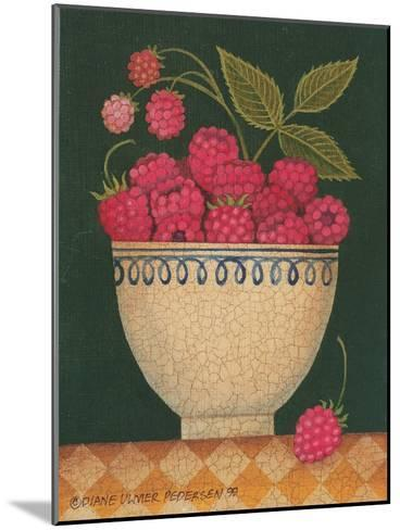 Cup O' Raspberries-Diane Pedersen-Mounted Art Print