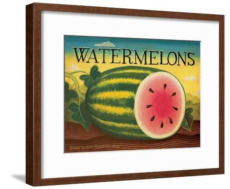 Watermelons-Diane Pedersen-Framed Art Print