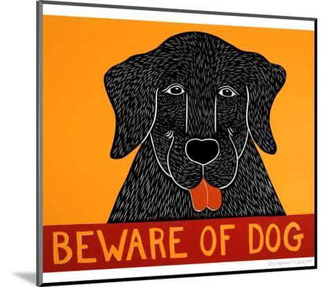 Beware Of Dog Black-Stephen Huneck-Mounted Giclee Print