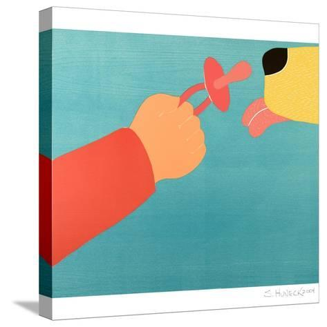 Dog For The Child Child For The Dog-Stephen Huneck-Stretched Canvas Print