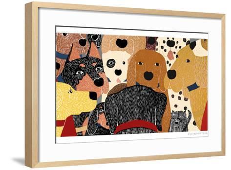 Dog Meeting-Stephen Huneck-Framed Art Print